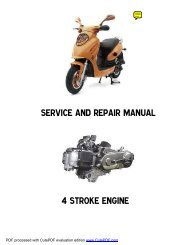 SERVICE AND REPAIR MANUAL 4 STROKE ENGINE