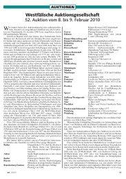 Westfälische Auktionsgesellschaft 52. Auktion vom 8 ... - Money Trend