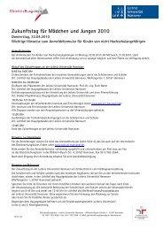 Zukunftstag für Mädchen und Jungen 2010 - Gleichstellungsbüro ...