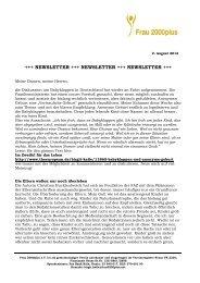 Newsletter Frau 2000plus 02.08.2012_Babyklappen im Zweifel für ...
