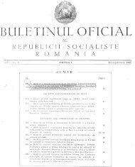 buletinul oficial republicii - Universitatea din Craiova