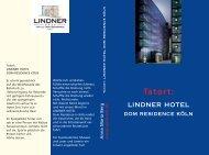 LINDNER HOTEL Tatort: