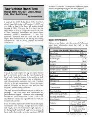 Dodge 3500, 4x4, SLT, Diesel, Mega