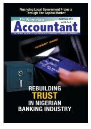 The Nigerian Accountant 2012 - The Institute of Chartered ...