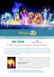 En 2013, la magie est prolongée à Disneyland Paris - Del-Tour