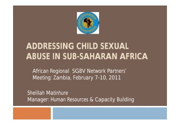 ADDRESSING CHILD SEXUAL ABUSE IN SUB-SAHARAN AFRICA