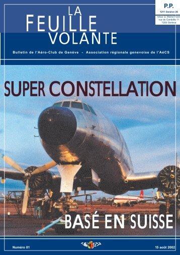 SUPER CONSTELLATION - Aeroclub de Genève