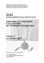 La scheda sigilli - Istituto Centrale per gli Archivi - Ministero per i ...