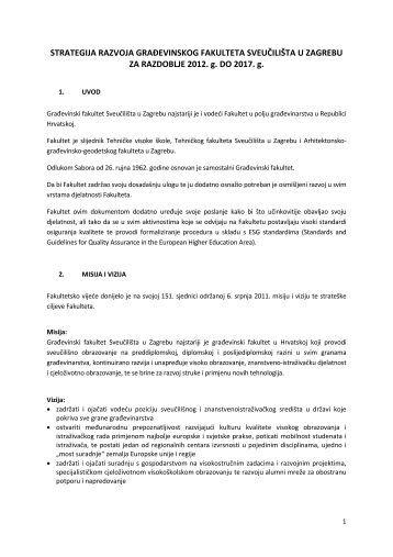 Strategija razvoja za razdoblje 2012. do 2017. godine - Građevinski ...