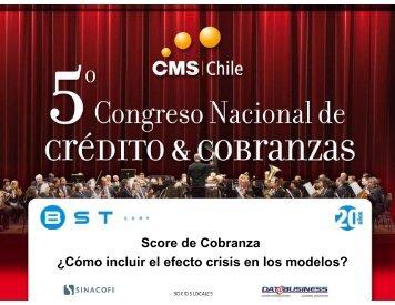 Score de Cobranza ¿Cómo incluir el efecto crisis en los ... - SINACOFI