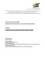 Wohnungslosenerhebung Oktober 2007 - Salzburger ...