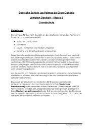 Lehrplan Deutsch Klasse 3 - Deutsche Schule Las Palmas de Gran ...