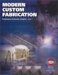 Custom Fabrication Brochure - Modern Welding Company