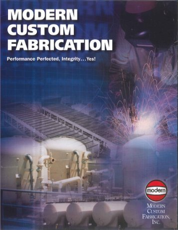 Custom Fabrication Brochure - Modern Welding Company