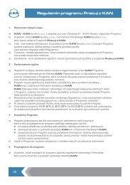 Regulamin programu Pracuj z KAN - KAN-therm