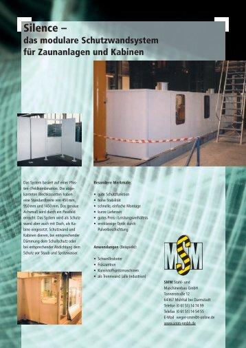 Silence – - SMM Stahl- und Maschinenbau GmbH