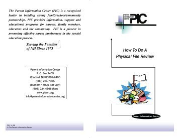 How To Do A Physical File Review - Advocates for Families of ...
