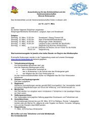 Ausschreibung für das Schülerskifest und die ... - Skiclub Hinterzarten