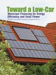 Municipal Financing for Energy Efficiency and Solar Power