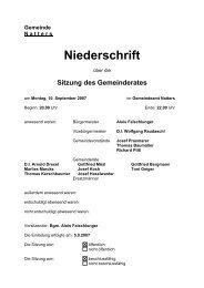 Protokoll vom 10.9.2007 (83 KB) - .PDF - Natters