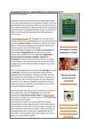 Nieuwsbrief 6 februari, GezondeShop en CelHerstelCentrum