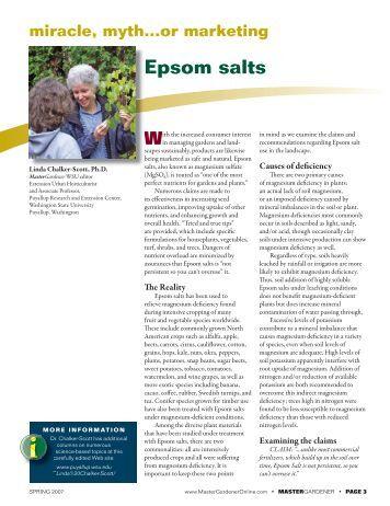 Hydrate Ratio Of Epsom Salt Lab