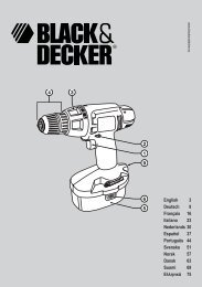 English 3 Deutsch 9 Français 16 Italiano 23 ... - Black & Decker