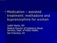 Medication - assisted treatment - Women, Children and Families