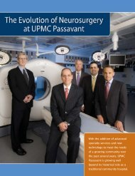 With the addition of advanced specialty services and ... - UPMC.com