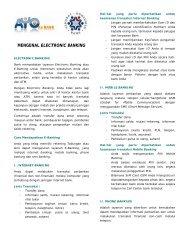 MENGENAL ELECTRONIC BANKING - Bank Indonesia