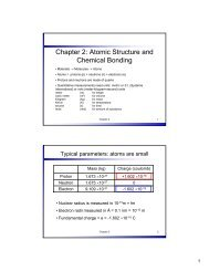 Chapter 2: Atomic Structure and Chemical Bonding