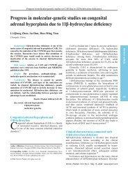 Progress in molecular-genetic studies on congenital adrenal ...