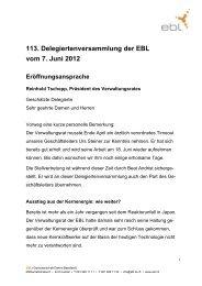 Eröffnungsansprache von Reinhold Tschopp ... - Steiner, Urs