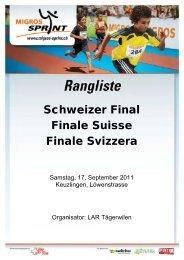 Schweizer Final Migros Sprint in Kreuzlingen vom ... - LAR Tägerwilen