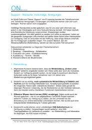 Moodle-Kurs Konzept - E-Learning - TU Berlin