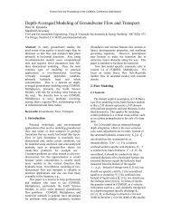 Depth-Averaged Modeling of Groundwater Flow ... - COMSOL.com