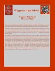 Waggener High Sports, 1964, 1st. Edition - RingBrothersHistory.com