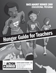 Hunger Guide for Teachers: Burundi - Action Against Hunger