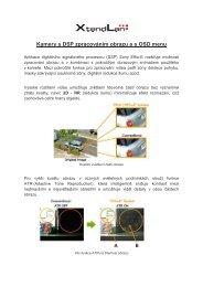 Kamery s DSP zpracováním obrazu a s OSD menu