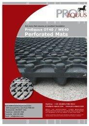 ProEquus Arena Base Mats 2-Page Brochure - Eco-Terr Distributing ...