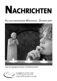 (2010: 1195) und 2150 € Spen- den bei uns ... - Lutherhaus Jena