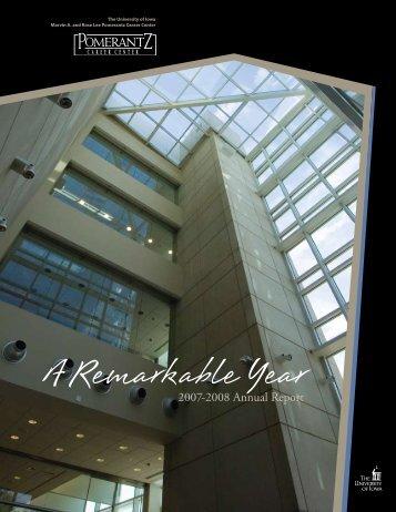2007-2008 Annual Report - Pomerantz Career Center - University of ...