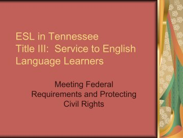 Title III: Service to English Language Learners - Campbell County ...