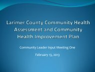 Community Health Assessment Summary