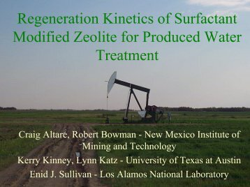 Regeneration Kinetics of Surfactant Modified Zeolite for ... - IPEC