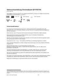 Gebrauchsanleitung ChromoQuant QF-PCR Kit - CyberGene AB