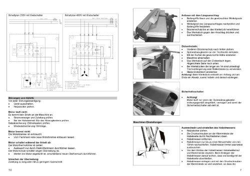 Bedienungsanleitung Kompakt-Hobelmaschine - LUTZ MASCHINEN