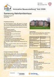 Sanierung Mehrfamilienhaus - Innovative Bauausstellung Kiel 2008