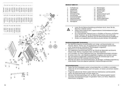 Bedienungsanleitung - LUTZ MASCHINEN