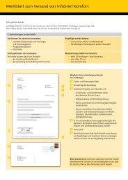 Merkblatt zum Versand von Infobrief Komfort